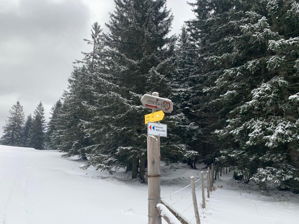 Skitour aufs Hennesteck(Annaberg)